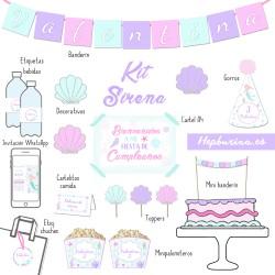 Kit Sirena para RECORTAR