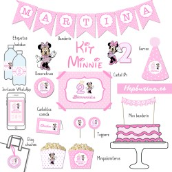 Kit Minnie para RECORTAR