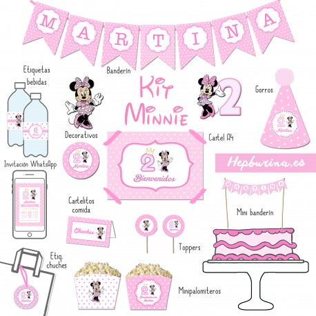Kit Minnie para RECORTAR