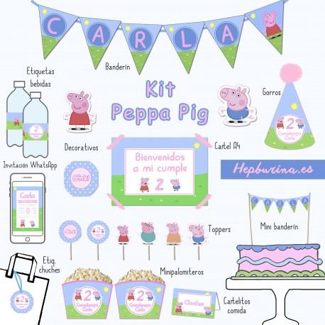 Kit Peppa Pig para RECORTAR