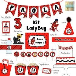 Kit LadyBug para RECORTAR