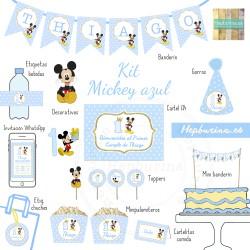 Kit Mickey dorado para RECORTAR