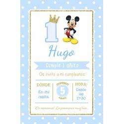 INVITACIÓN DIGITAL Mickey dorado