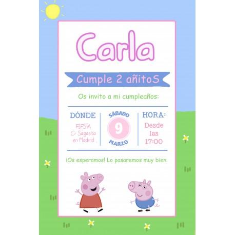 INVITACIÓN DIGITAL PEPPA PIG